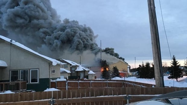 A fire broke out at Gillam's recreation centre early Wednesday evening.