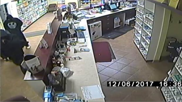 Two masked men robbed a Sarnia pharmacy on December 6, 2017.