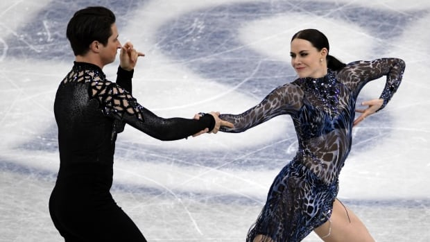 Tessa Virtue and Scott Moir of Canada compete during the ice dance short dance at the Grand Prix of Figure Skating final in Nagoya, Japan, on Thursday.