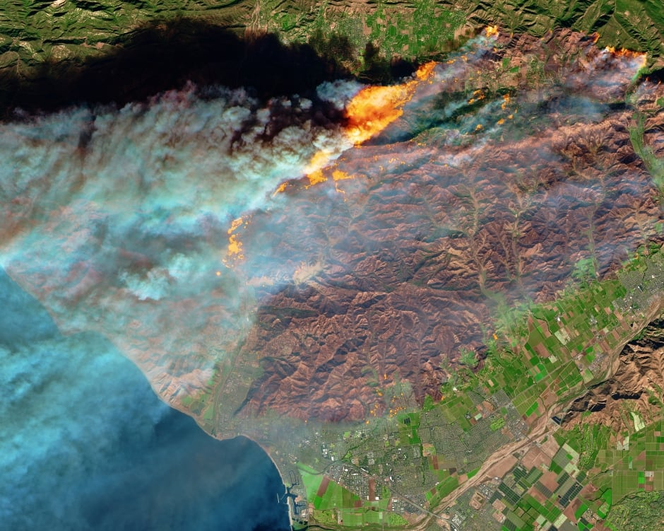 California wildfires NASA Earth Observatory