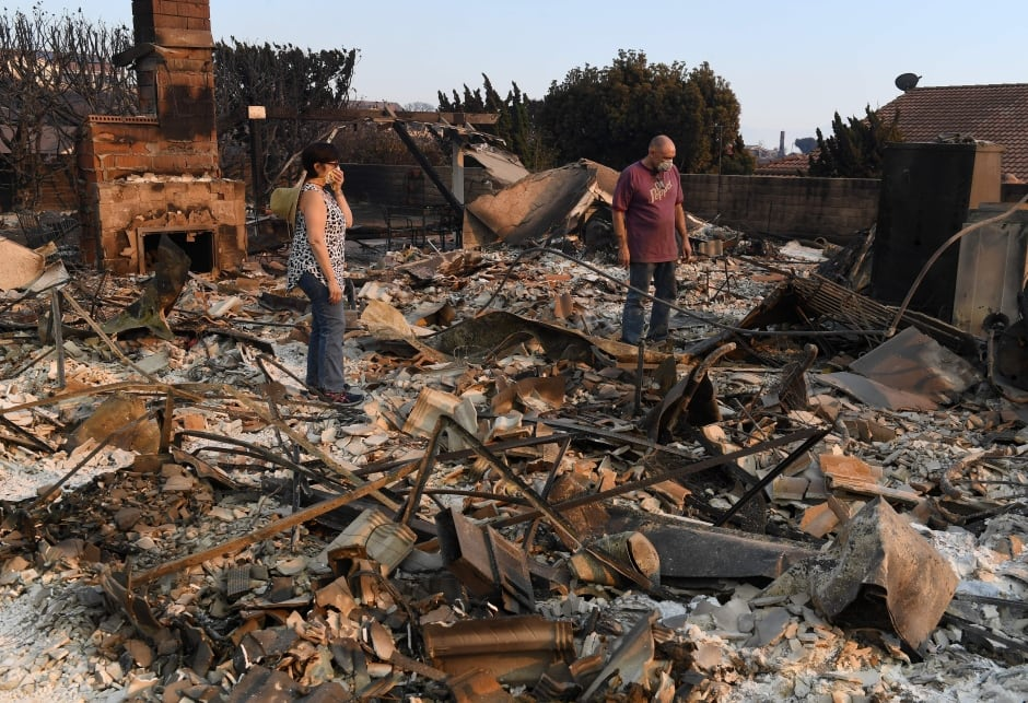 USA WEATHER FIRES CALIFORNIA burnt out home