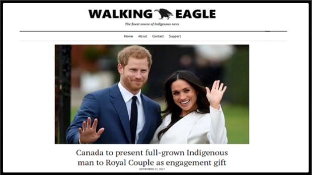 Walking Eagle Indigenous Satire Story featuring Meghan Markle and Prince Harry