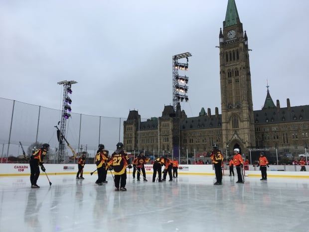 Ice rink opens parliament hill