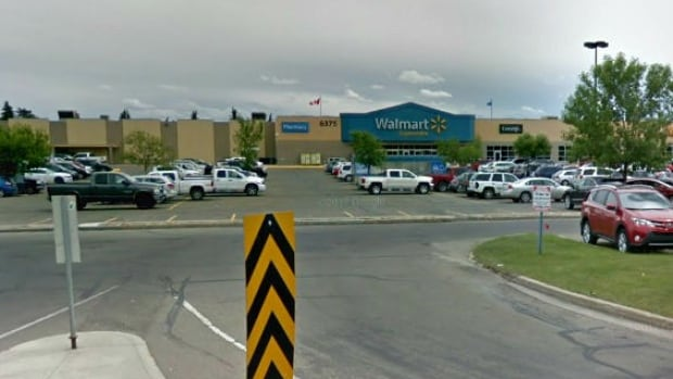 Police were called to the parking lot of a Walmart in Red Deer, Alta., around 2:30 p.m. on Wednesday after receiving calls about a hit and run involving a pedestrian.