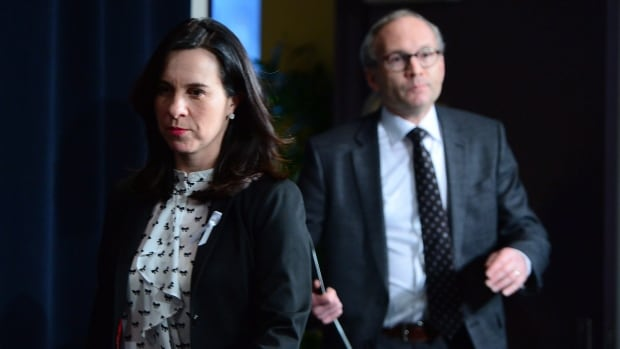 Quebec Public Security Minister Martin Coiteux and Montreal Mayor Valérie Plante held a news conference Wednesday to react to the report, which highlighted a 'climate of tension and suspicion' within the force.