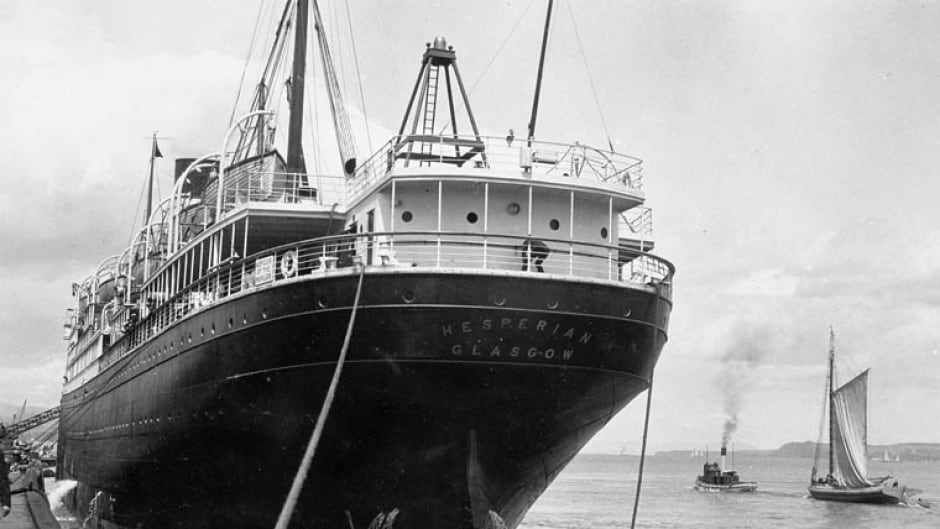 Steamship RMS Hesperian of the Allan Line from Glasgow.
