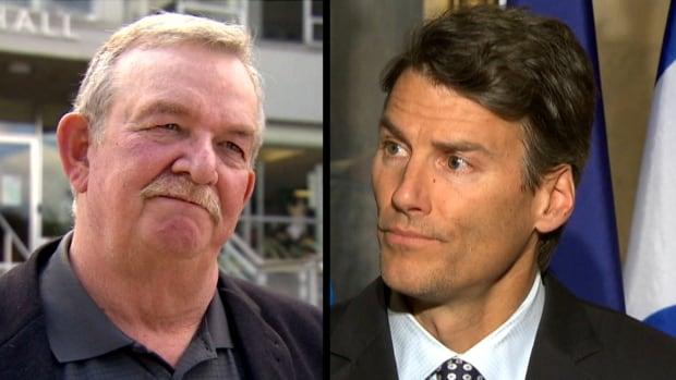 Burnaby Mayor Derek Corrigan (left) and Vancouver Mayor Gregor Robertson (right)