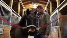 Owen McElroy with horse Ben
