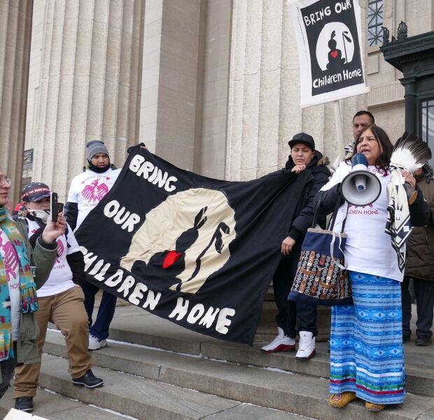 Bring our Children Home protest Manitoba Legislature
