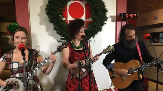 Swinging Belles perform at Feed NL Day on Friday morning.