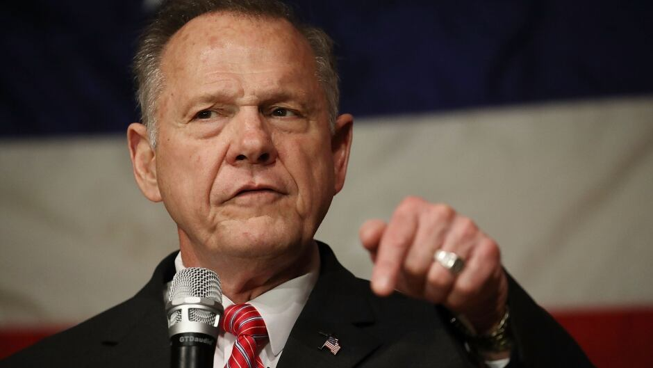 Republican Senatorial candidate Roy Moore speaks during a campaign event in Fairhope, Ala., on Dec. 5.