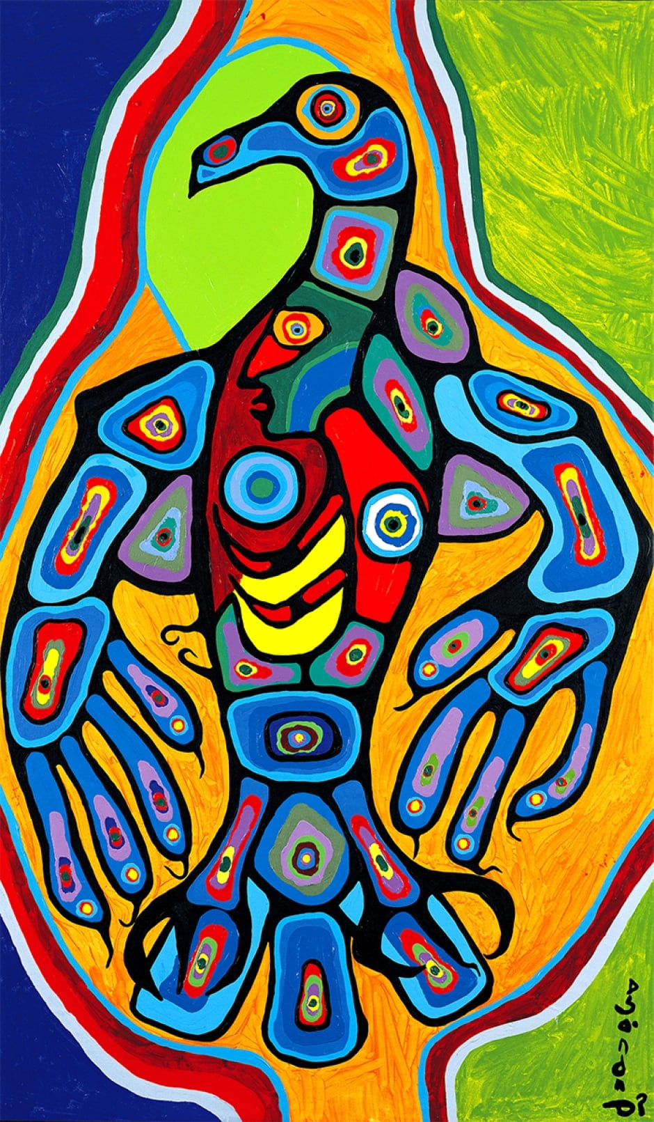 Thunderbird with Inner Spirit by Norval Morrisseau