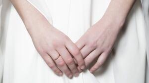 Young bride's hands