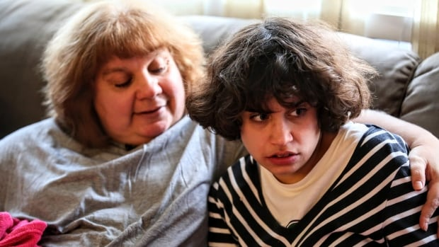 Joanne Dedes, 52, (left) says cannabis has saved her daughter's life. Dina Dedes, 19, has severe autism. 'She still has her little breakouts, so i'm not saying everything is perfect, but she hasn't damaged the house she has not hit her father,' Dedes says.