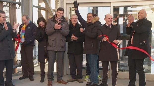 Politicians from the municipal, provincial and federal governments attended the grand opening for Edmonton's new funicular.