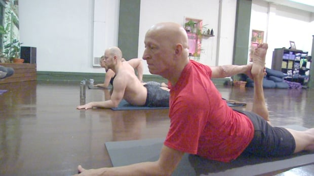 Peg City Yoga held a 12-hour yoga marathon Saturday to raise money for Mount Carmel Clinic's Mothering Project.