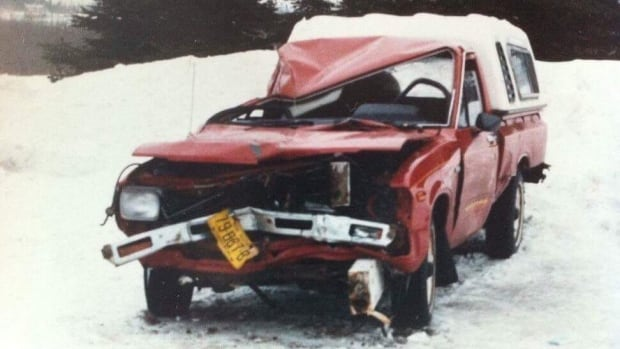 This was the state of Donnie MacNeil's truck after it was pulled out of the water in 1986.