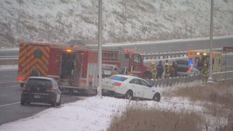 chelsea highway 5 quebec crash police emergency crews