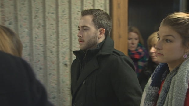 Christopher Garnier, on trial for second-degree murder in the death of off-duty police officer Catherine Campbell, arrives to Nova Scotia Supreme Court in Halifax on Dec. 11, 2017.