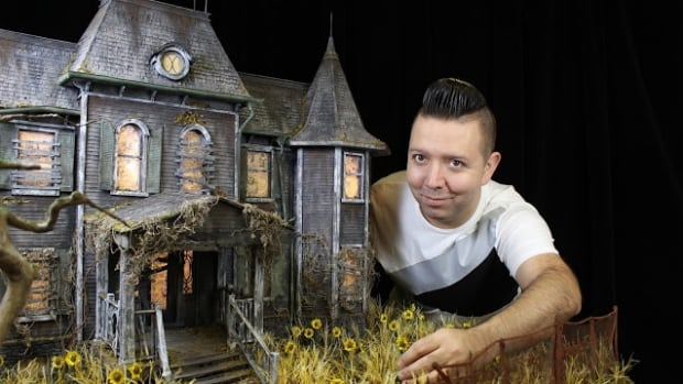Calling Lake artist Lance Cardinal spent two months building an exact replica of the  haunted estate from Stephen King's It.