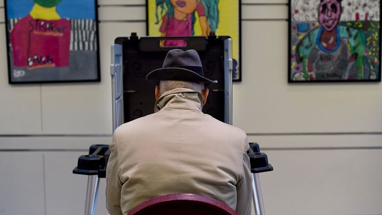 Conservative with age: Voting booth