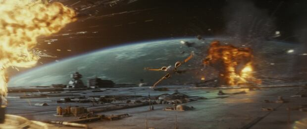 Star Wars space battle