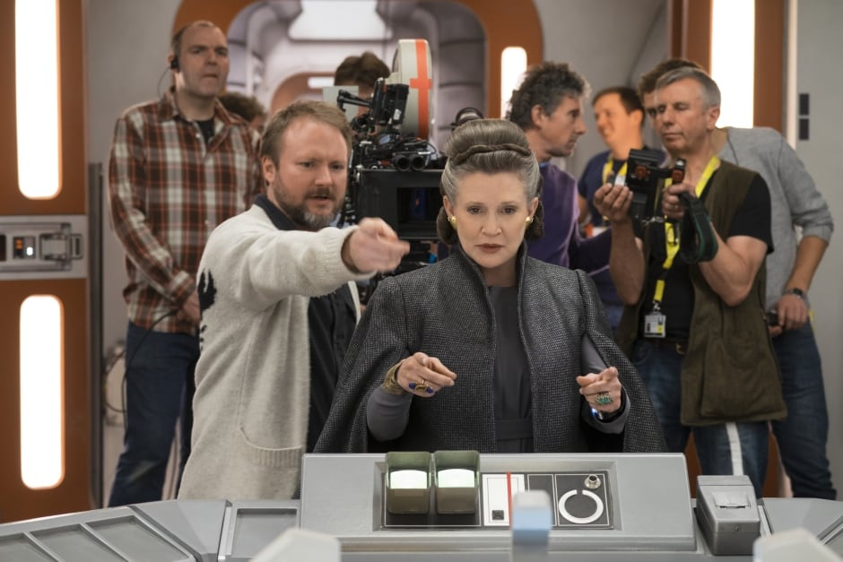 Rian Johnson Carrie Fisher