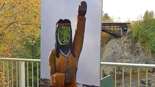 Jeff Doucette, a former Grand Falls priest, wrote a letter of complaint to council after seeing the 'culturally inappropriate' cut-out during a recent visit to the tourist centre.
