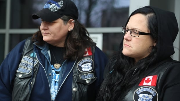 Members from Guardians of the Children were at a Hamilton courthouse Monday to show their support for victim and her family.