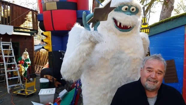 Neil Salmond's favourite among his collection of giant inflatable Christmas objects is a giant abominable snowman.