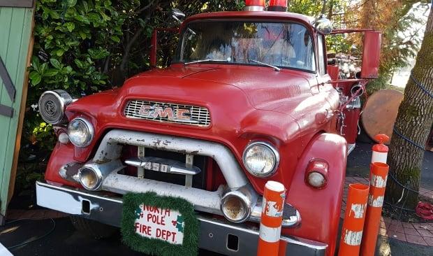 Neil Salmond's North Pole Fire Dept. truck