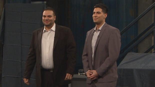 Brothers Bashar (left) and Bassam Daher, pitched their service on Dans l'œil de dragon, Quebec's version of Dragon's Den.