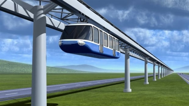 Quebec City-Montreal monorail mock up