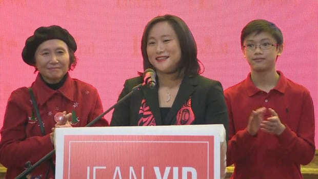 CBC News is projecting Jean Yip the winner of a federal byelection race to replace her late husband Arnold Chan as MP for Scarborough-Agincourt.