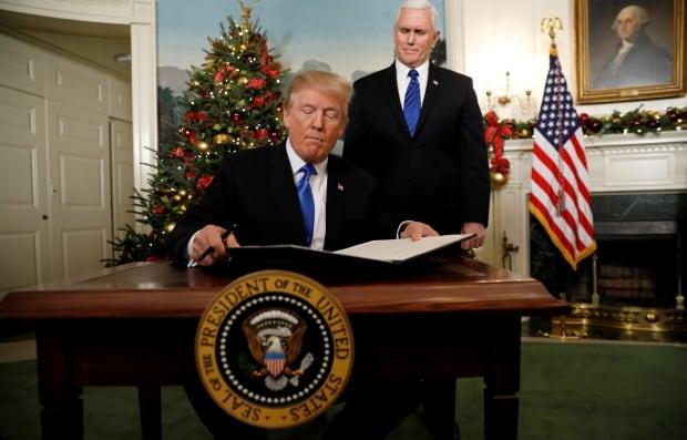 USA-TRUMP/ISRAEL-PENCE