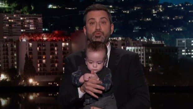 Jimmy Kimmel brings out his son to talk about health care