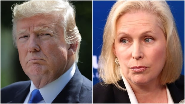 New York Sen. Kirsten Gillibrand, D-N.Y. accused Donald Trump of bringing 'shame' to the Oval Office on Tuesday morning in response to a tweet by the president.