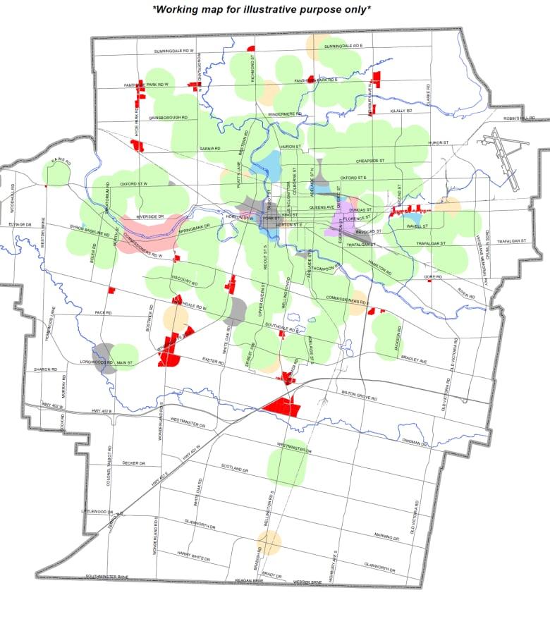 London City Area Map.City Maps Possible Locations For Pot Shops Cbc News