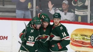 Wild outlast Flames to win in 5th round of shootout