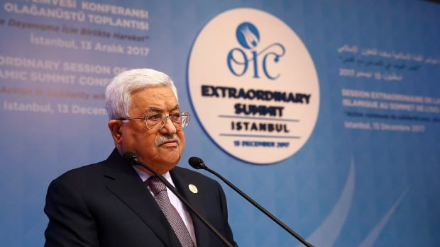 Palestinian President Mahmoud Abbas told the Organisation of Islamic Co-operation's Extraordinary Summit in Istanbul on Wednesday that Palestinians won't accept any role for the United States in a peace process with Israel 'from now on.'