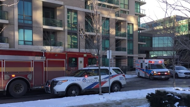 A four-month-old baby was rushed to hospital following a violent incident in west Toronto on Wednesday morning.