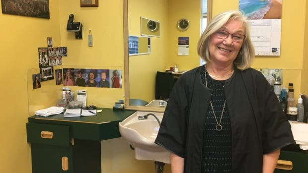 Cindi MacPherson has been working at the Starlite Barber Shop for 42 years.