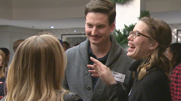 The sold-out event was for freelancers, under-employed individuals and Calgarians of all stripes who may not otherwise have had a Christmas office party to attend.
