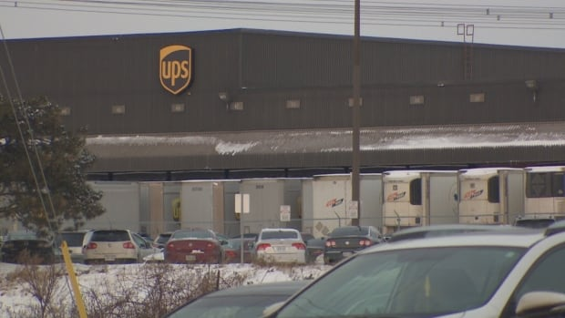 UPS distribtion centre on Steeles Ave West in Concord, Ontario