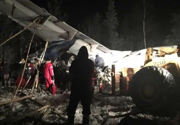 Fond-du-Lac crash site December 13, 2017