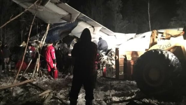 Plane with 25 People Aboard Crashes in Canada