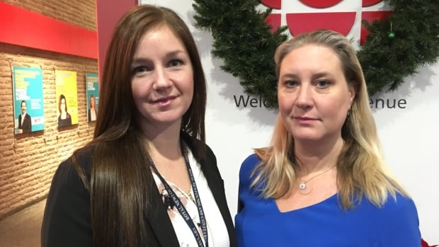Const. Lindsay Dillon (left) is a Royal Newfoundland Constabulary officer with the Intimate Partner Violence Unit. Malin Enstrom is a crime analyst with the RNC.