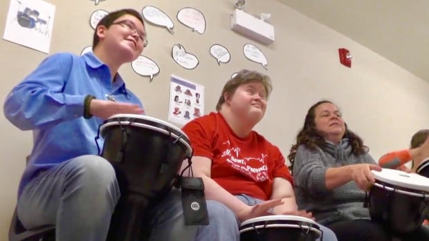 Young adults bang the drums — and learn life skills — at Community Inclusions in O'Leary, P.E.I.