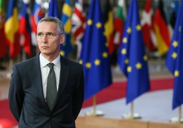 BELGIUM EU COUNCIL MEETING - STOLTENBERG