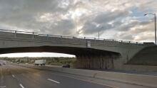 Highway 59 overpass on Highway 401